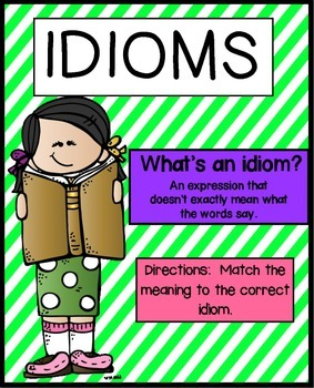 Idioms Activities | Idioms Worksheet