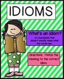 Idioms Activities   Idioms Worksheet
