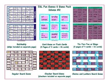 Idioms #2 6 Board Game Bundle
