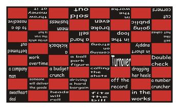 Idioms #2 Checker Board Game