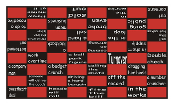 Idioms #2 Checker Board Game
