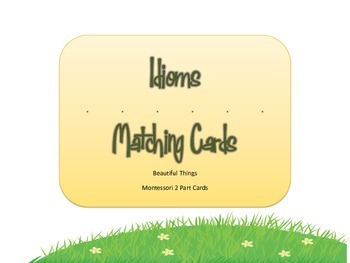 Idioms 2-Part Card Matching Game