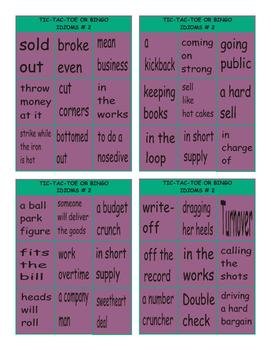 Idioms #2 Tic-Tac-Toe or Bingo
