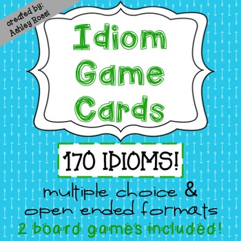 Idioms Game Cards For Test Prep