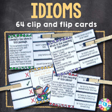 Idioms Activities: Idioms Task Cards (Clip and Flip)