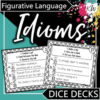Figurative Language - Idioms - Interactive Task Cards
