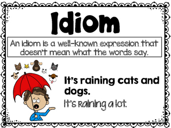 Idioms Poster and Task Cards