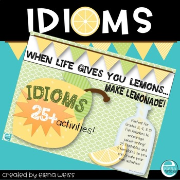 Idiom Activities -Fun with Figurative Language!