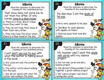 Idiom Task Cards - L.2.5