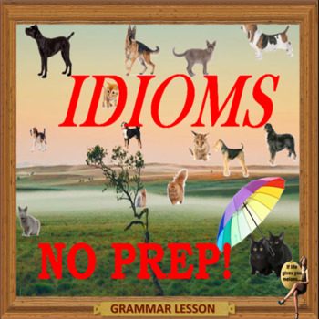Idioms - ESL adults conversation and kids