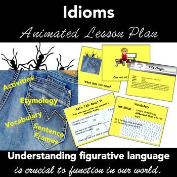 Figurative Language: Idioms. COMPLETE LESSON ANIMATED PowerPoint
