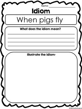 Idioms (printables, puzzles and more)