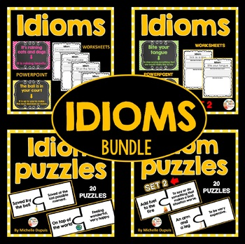 Idioms (printables, puzzles and more) - Bundle