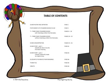 Thanksgiving - 7 Related Idioms, Activities, Games, Worksheets and more!
