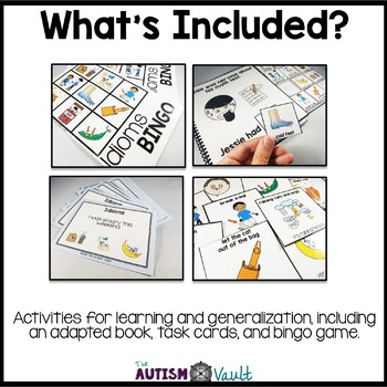 Idioms Activities for Students with Autism