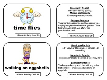 Idioms Activity Cards