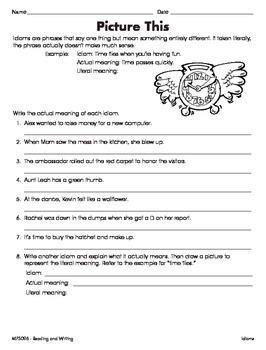 Idioms, Adages and Proverbs (CCSS L.5.5b)