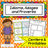 Idioms, Adages, and Proverbs: Centers and Practice Pages
