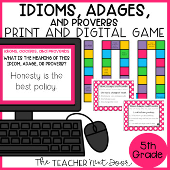 Idioms, Adages, and Proverbs Game | Idioms, Adages, and Proverbs Center