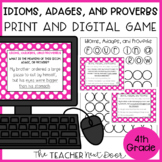 Idioms, Adages, and Proverbs Game Print and Digital Distan