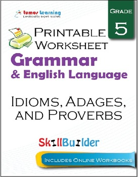 Idioms, Adages, and Proverbs Printable Worksheet, Grade 5