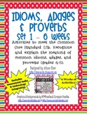 Idioms, Adages, and Proverbs - Set #1 (Technology Enhanced)