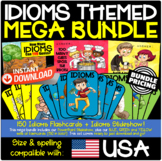 Idioms Mega Bundle (252 pages) including 150 Flashcards + PowerPoint Slideshow