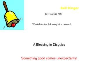 Idioms Bellringers