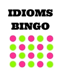 Idioms Bingo