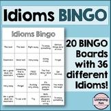 Idioms Bingo Game