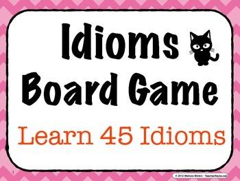 Idioms Board Game - Learn 45 Common Idioms While Having Fun