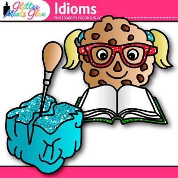 Idiom Clip Art {Figurative Language Use for Bad Apple, Smart Cookie, Doggy Bag}