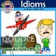 Idioms Clip Art (Pigs Fly, Cat Out of Bag, Couch Potato, Piece of cake)