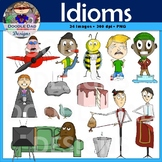 Idioms Clip Art (Pigs Fly, Cat Out of Bag, Couch Potato, P