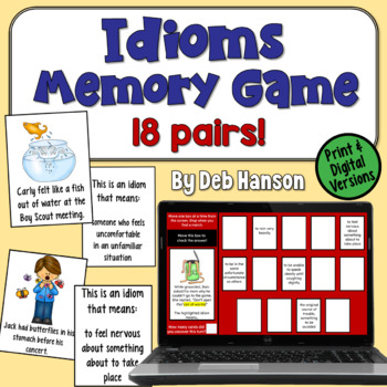 Idioms Concentration Game