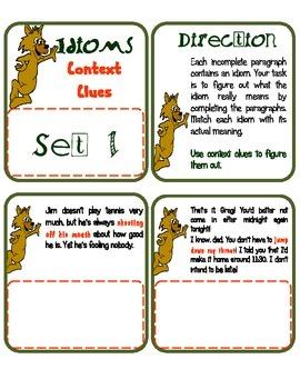 Idioms - Context Clues Set 1