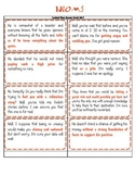 Idioms - Context Clues Answer Cards Set 1