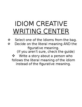 Idioms Creative Writing Center