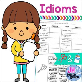 Idioms Cut and Paste Sorting Activity