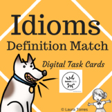 Idioms Definition Match Boom Cards - Distance Learning