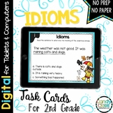 Idioms Task Cards: 2nd Grade Vocabulary Centers for Google Classroom Use