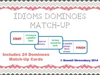 Idioms Dominoes Match-Up Activity