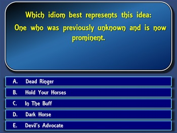 Idioms, Expressions and Figures of Speech Jeopardy-Style Powerpoint Game
