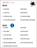 Idioms (Figurative Language) Colors