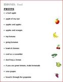 Idioms (Figurative Language) Food