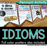 Idioms with Pictures Activity Figurative Language Pennant