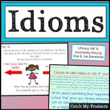 Figurative Language Lesson on Idioms Power Point