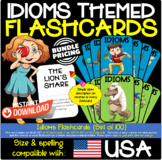 Idioms Flashcards Bundle Set of 100 Flashcards Ready to Print and Laminate