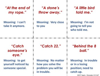 Idioms Fun for Speech and Language