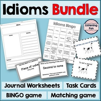 Idioms Games and Task Cards Bundle